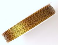 100 M  Tiger tail Cord 0.45mm beading wire Gold